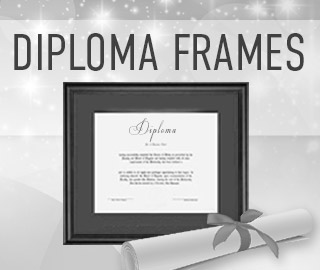Picture of diplomas in frames. Click to shop diploma frames.